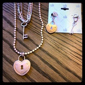 CAbi Lock and necklaces and earrings